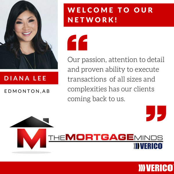 VERICO is pleased to welcome Diana Lee and VERICO The Mortgage Minds