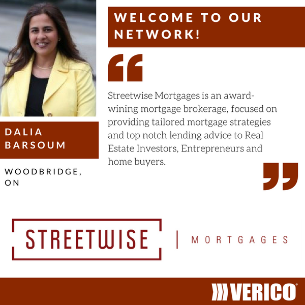 VERICO welcomes Streetwise Mortgages and Dalia Barsoum